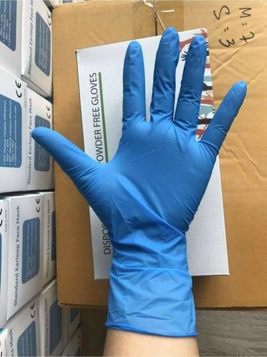 Disposable Blue Powder Free Nitrile Hand Gloves