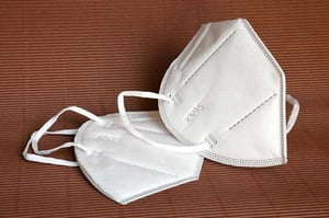 White Colored N95 Mask