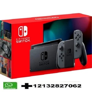 Nintendo Switch Console And Gray Joy Cons V2