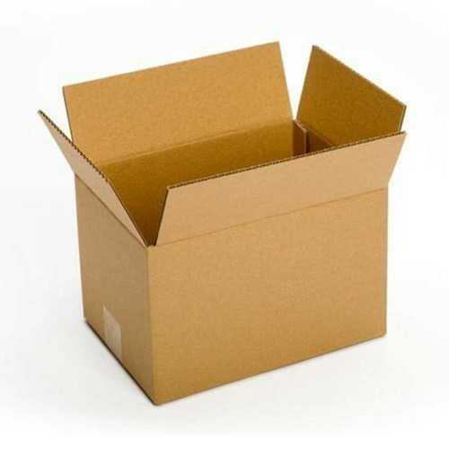 Brown Plain Corrugated Paper Box
