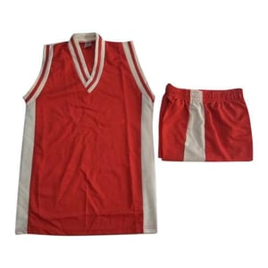 Red And White Basketball Uniform