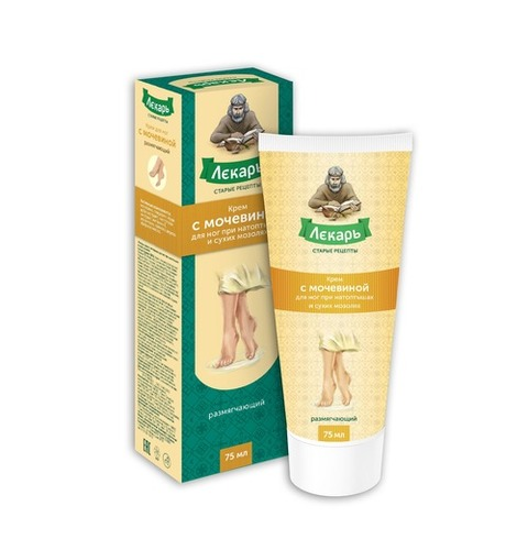Foot Cream Lekar with Urea for Softening Dry Calluses 75 ml