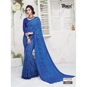 6.3m Chiffon Party Wear Saree with Blouse