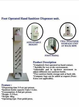 Durable Sanitizer Pedal Stand