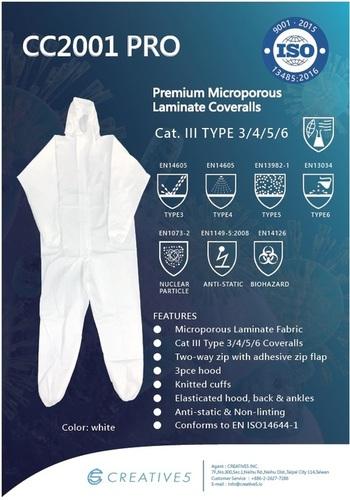 CC2001 Pro Microporous Laminate Coveralls