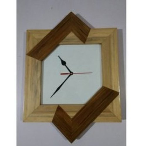AC02 19 Antiqued Wooden Wall Clock