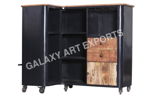 Bar with Wooden Top and Drawers Weight: 75  Kilograms (kg)