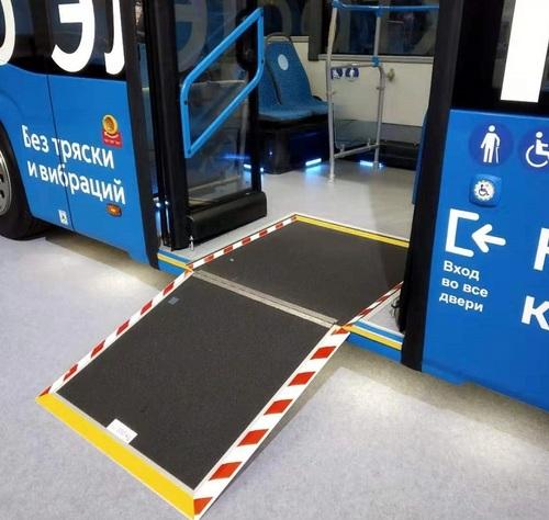 Manual Flip Bus Wheelchair, Disabled Ramp (RAP200)
