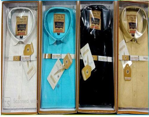 White Mens Linen Cotton Shirt