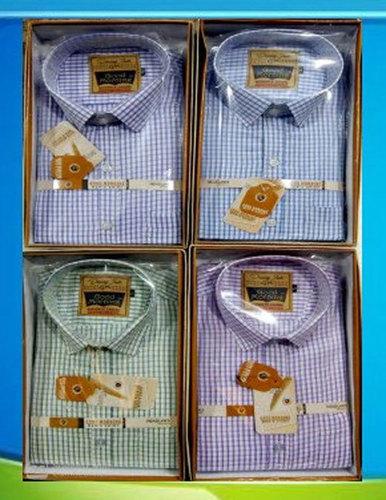Mens Small Check Cotton Shirt