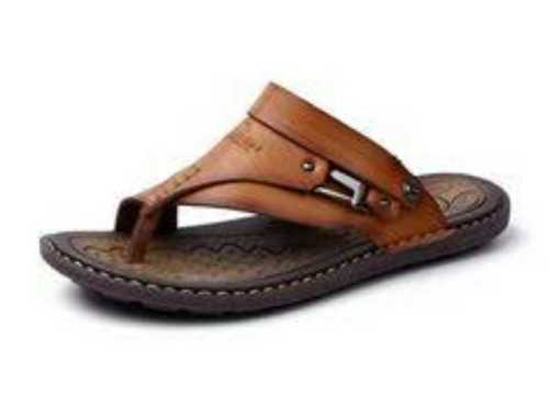 Stylish Mens Leather Slippers