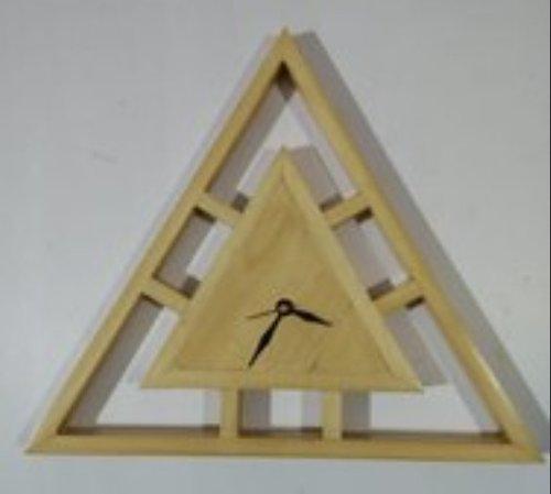 Triangular Wooden Wall Clock