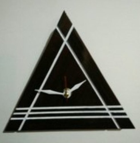 Black Triangle Wooden Wall Clock