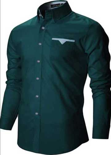 Blue Color Full Sleeves Mens Shirt