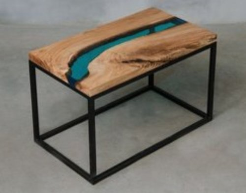 Center Table With Epoxy