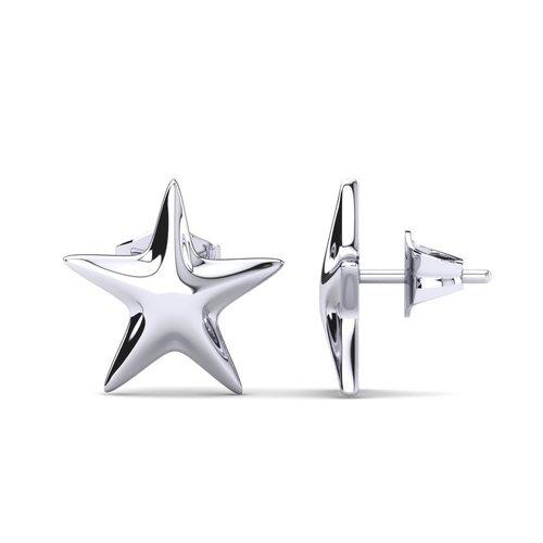Designer Silver Charm Earrings