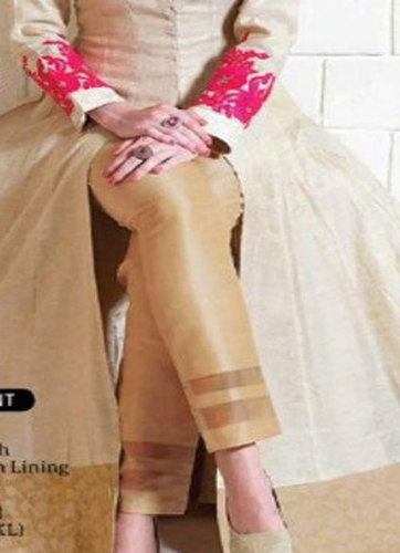 White, Black Ladies Stripe Silk Pant