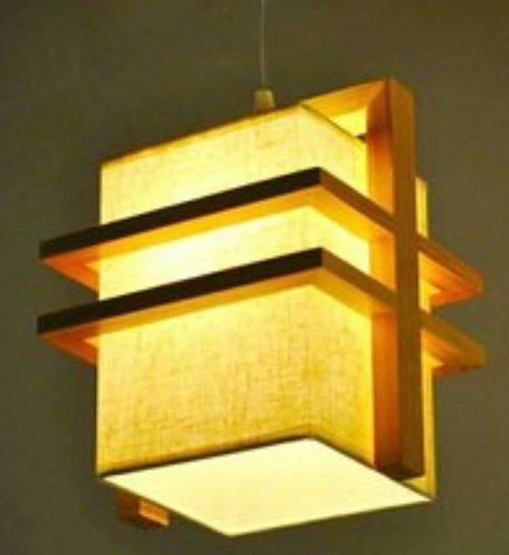 Natural Wood Colour LED Wooden Hanging Light
