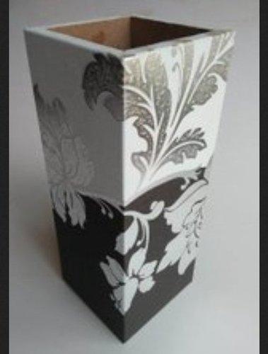 Printed Wooden Flower Pot