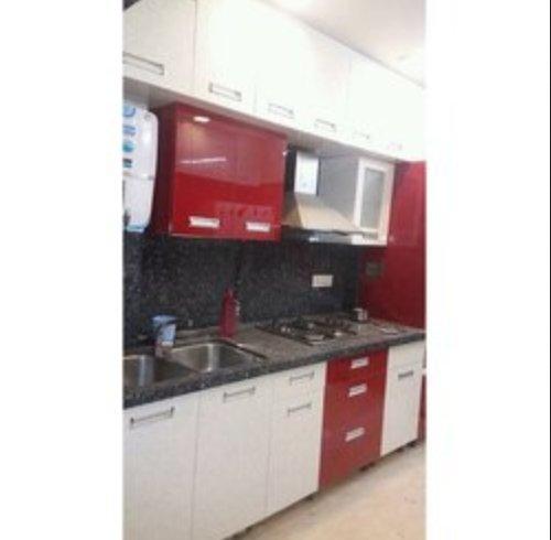 Red Stylish Modular Kitchen