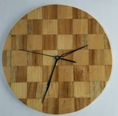 Round Wooden Wall Clock Size: 275x275mm