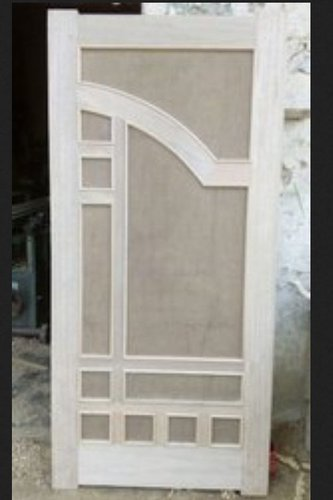 White Modern Wood Hinged Door Size: 84X39 Inch