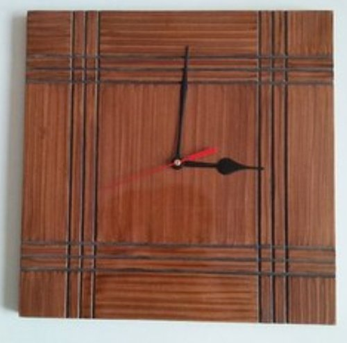 Wooden Square Wall Clock