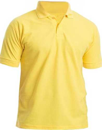 Yellow Color Short Sleeves Mens T-Shirt