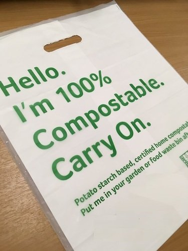 White 100% Compostable Carry Bags