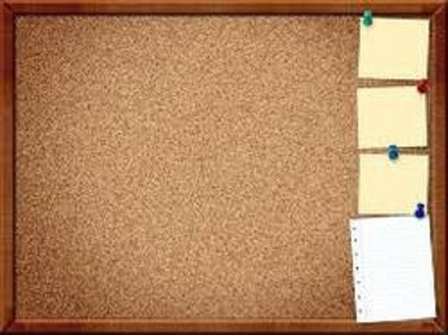 Brown Cork Pin Board