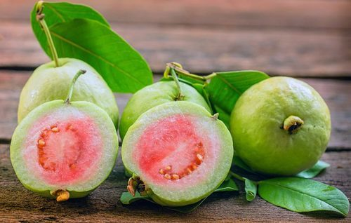 Fresh Red Guava Fruits
