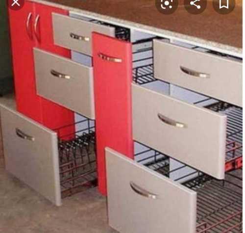 Polished Modular Kitchen Trolley