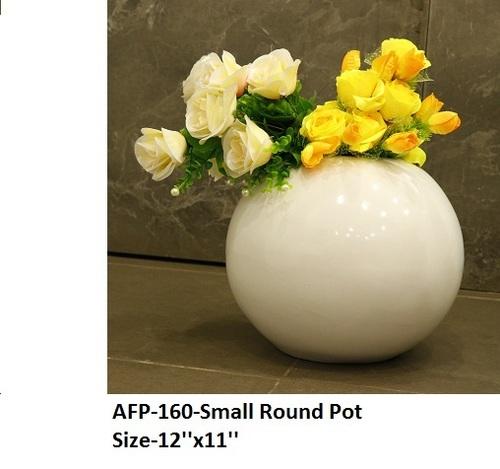 Round Fiber Flower Pots