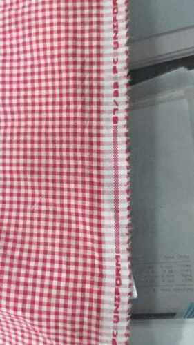 School Uniform Red Check Fabric