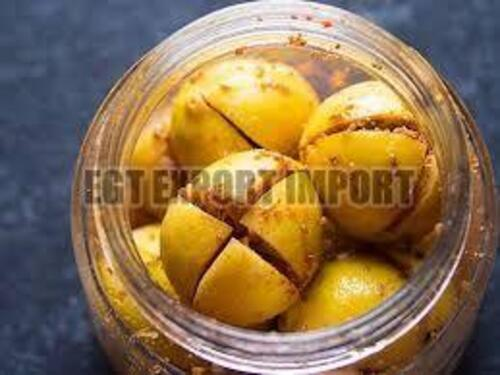 Yellow Lemon Pickle for Food