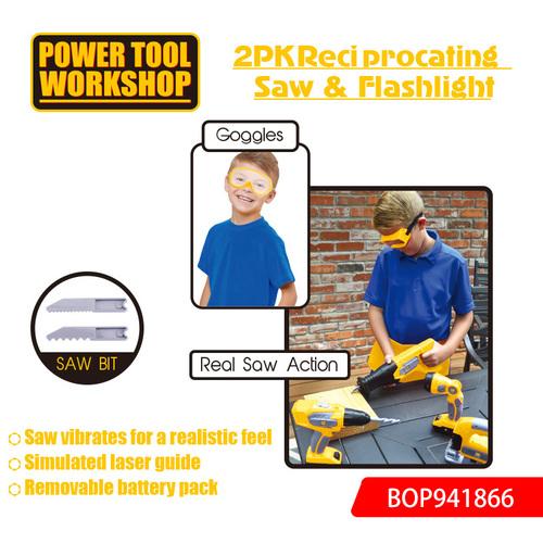 2PK Reciprocating Saw and Flashlight Toys