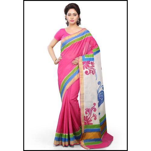 Multicolored Attractive Print Ladies Designer Saree