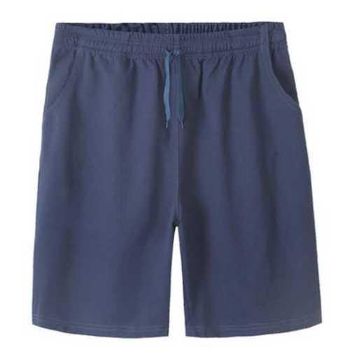 Blue Color Mens Cotton Shorts