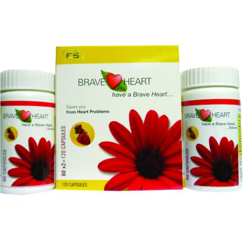 Brave Heart Capsule Cardiac Care Herbal Medicine