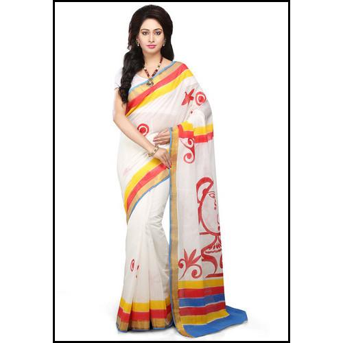 Multicolored Comfortable To Wear Ladies Trendy Saree