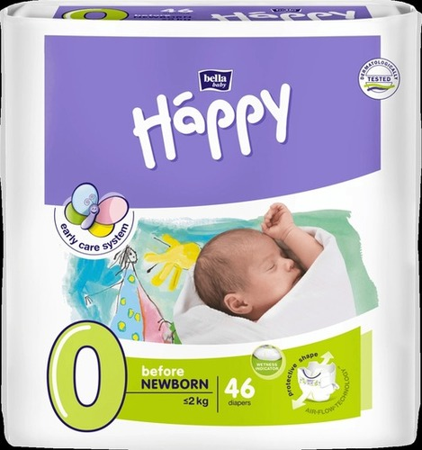 White Disposable Baby Diapers (Bella)