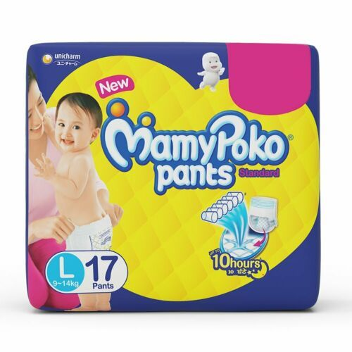 White Disposable Baby Diapers (MamyPoko Pants)