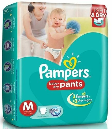 Dry Disposable Pant Style Baby Diapers (Pampers)