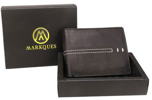 Genuine Leather Black Mens Wallet