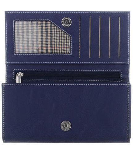 Ladies Blue Leather Purse Clutch