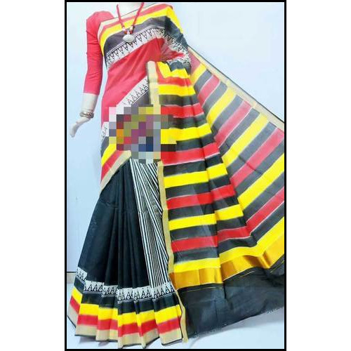 Ladies Cotton Block Printed Kerala Saree