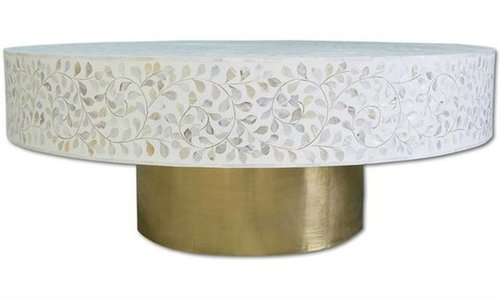 Mother Of Pearl Round Shape Tables