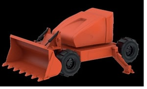 Remotely Operated Loading/Dozing Vehicle For Mines