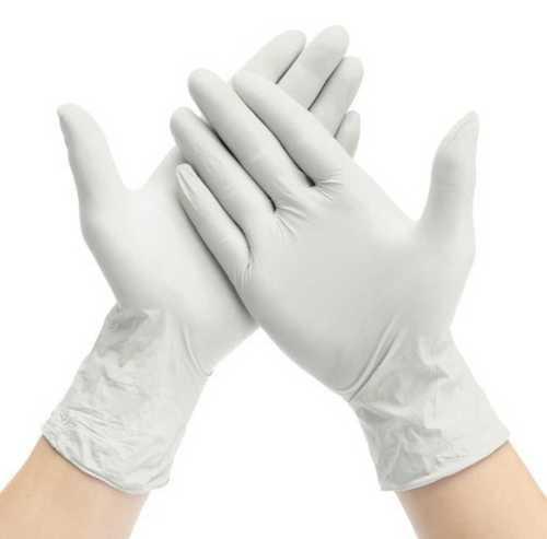 White Color Full Sleeves Hand Gloves