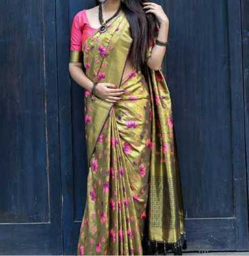 100% Pure Silk Printed Saree